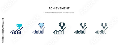 Photo achievement icon in different style vector illustration