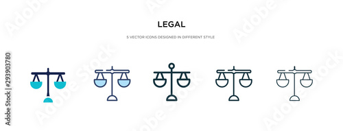Fotografia legal icon in different style vector illustration