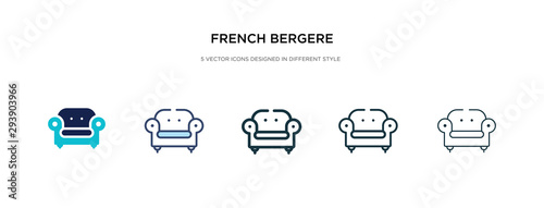 french bergere icon in different style vector illustration Wallpaper Mural