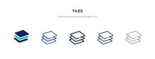 Tiles Icon In Different Style ...