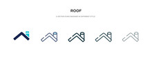 Roof Icon In Different Style V...