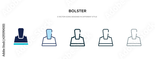 bolster icon in different style vector illustration Wallpaper Mural