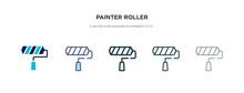 Painter Roller Icon In Differe...