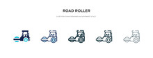 Road Roller Icon In Different ...