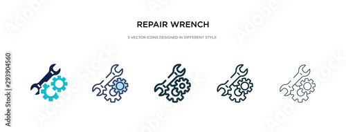 Fotografia repair wrench icon in different style vector illustration