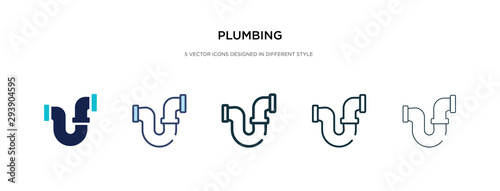 Fotografie, Obraz plumbing icon in different style vector illustration