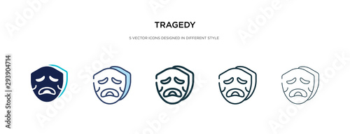 tragedy icon in different style vector illustration Fototapet