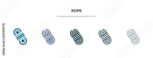 Cuadros en Lienzo rope icon in different style vector illustration