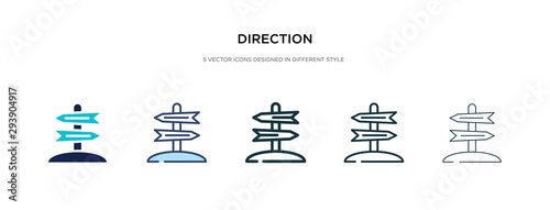 direction icon in different style vector illustration. two colored and black direction vector icons designed in filled, outline, line and stroke style can be used for web, mobile, ui