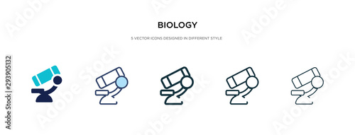 Fotomural  biology icon in different style vector illustration