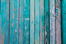 Old Fence With Vertical Boards...