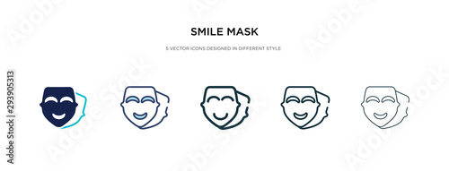 Fotografie, Tablou  smile mask icon in different style vector illustration