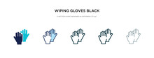 Wiping Gloves Black Pair Icon In Different Style Vector Illustration. Two Colored And Black Wiping Gloves Black Pair Vector Icons Designed In Filled, Outline, Line And Stroke Style Can Be Used For