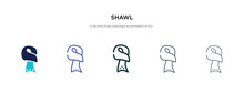 Shawl Icon In Different Style ...