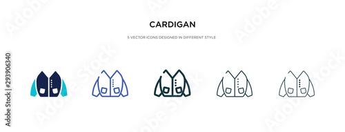 Fotografía  cardigan icon in different style vector illustration