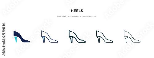 heels icon in different style vector illustration Obraz na płótnie