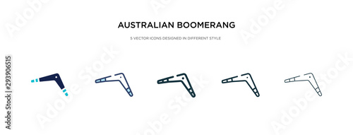 australian boomerang icon in different style vector illustration Canvas Print