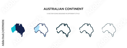 Fotografie, Tablou  australian continent icon in different style vector illustration