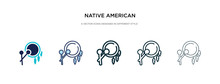 Native American Drum Icon In D...