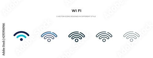 Cuadros en Lienzo  wi fi icon in different style vector illustration