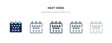 Next Week Icon In Different St...