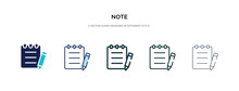 Note Icon In Different Style V...