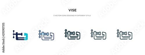 vise icon in different style vector illustration Fototapet