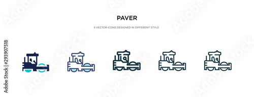 Fototapeta paver icon in different style vector illustration