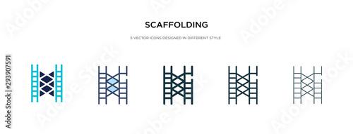 Fotografie, Obraz scaffolding icon in different style vector illustration