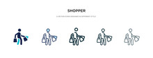 Shopper Icon In Different Styl...
