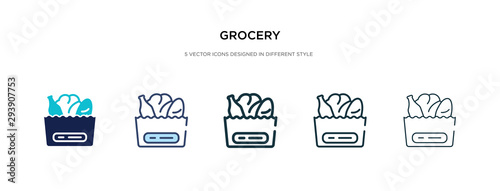 Cuadros en Lienzo grocery icon in different style vector illustration