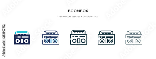 Cuadros en Lienzo boombox icon in different style vector illustration