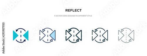Obraz reflect icon in different style vector illustration. two colored and black reflect vector icons designed in filled, outline, line and stroke style can be used for web, mobile, ui - fototapety do salonu