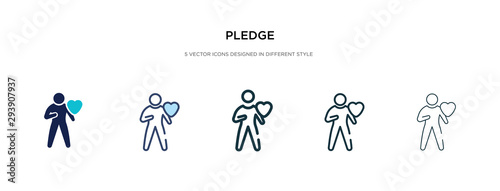 pledge icon in different style vector illustration Canvas Print