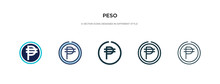 Peso Icon In Different Style V...