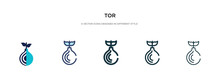 Tor Icon In Different Style Ve...