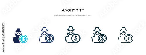 Fotomural  anonymity icon in different style vector illustration