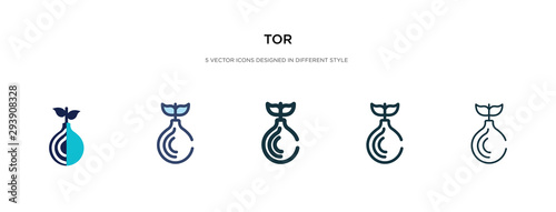 Fényképezés tor icon in different style vector illustration