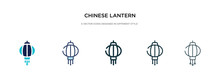 Chinese Lantern Icon In Differ...