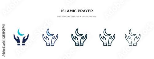 islamic prayer icon in different style vector illustration Slika na platnu