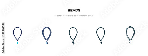 beads icon in different style vector illustration Wallpaper Mural