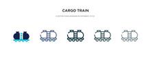 Cargo Train Icon In Different ...
