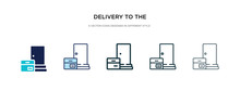 Delivery To The Door Icon In D...