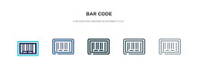 Bar Code Icon In Different Sty...