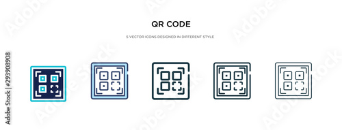 Valokuva  qr code icon in different style vector illustration