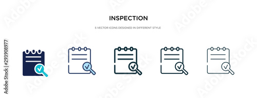 inspection icon in different style vector illustration Fotobehang