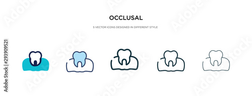 Vászonkép occlusal icon in different style vector illustration