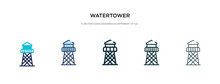 Watertower Icon In Different S...