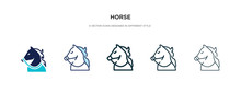 Horse Icon In Different Style ...