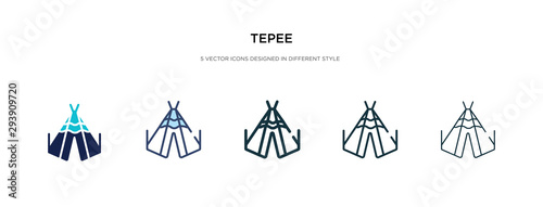 Foto tepee icon in different style vector illustration